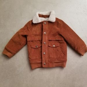 Unisex Brown shearling bomber jacket